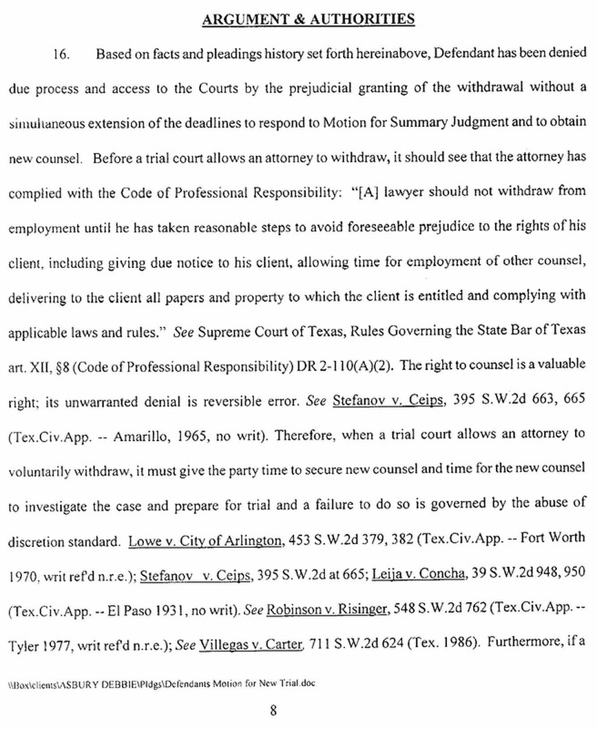 Steelmorrismore texas board of disciplinary appeals prohibits my grievance to the state bar of texas and the appeal to christine mckeeman boda contained a full copy of defendants motion for a new trial platinumwayz